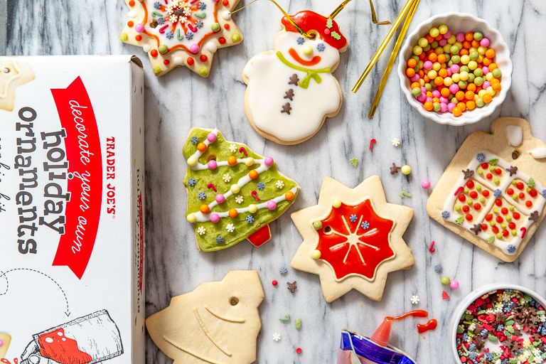 Trader Joe's Has A Kit So You Can Make Cookie Ornaments, And I Would Eat Them Before They Made It To My Tree