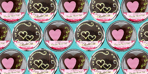 Pink, Heart, Sweetness, Font, Food, Dessert, Label, Cuisine, Hair coloring, Bake sale,