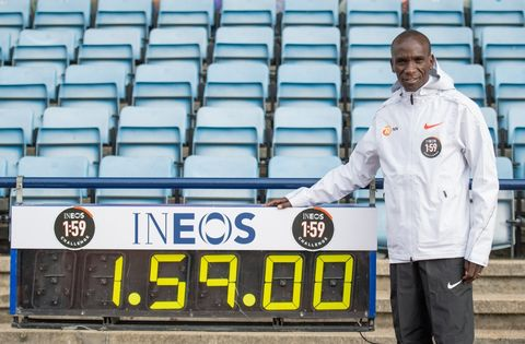"Eliud Kipchoge: ""Breaking the two-hour marathon barrier would be like man landing on the moon"""