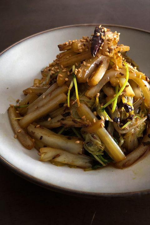 白菜と豆苗のサーグ