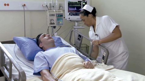 Medical procedure, Hospital, Patient, Medical, Hospital bed, Medical equipment, Clinic, Health care, Nurse, Nursing,