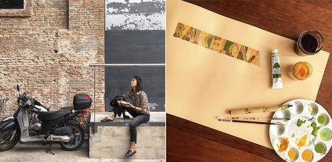 Wall, Tile, Room, Flooring, Furniture, Interior design, Brick, Sitting, Wallpaper,