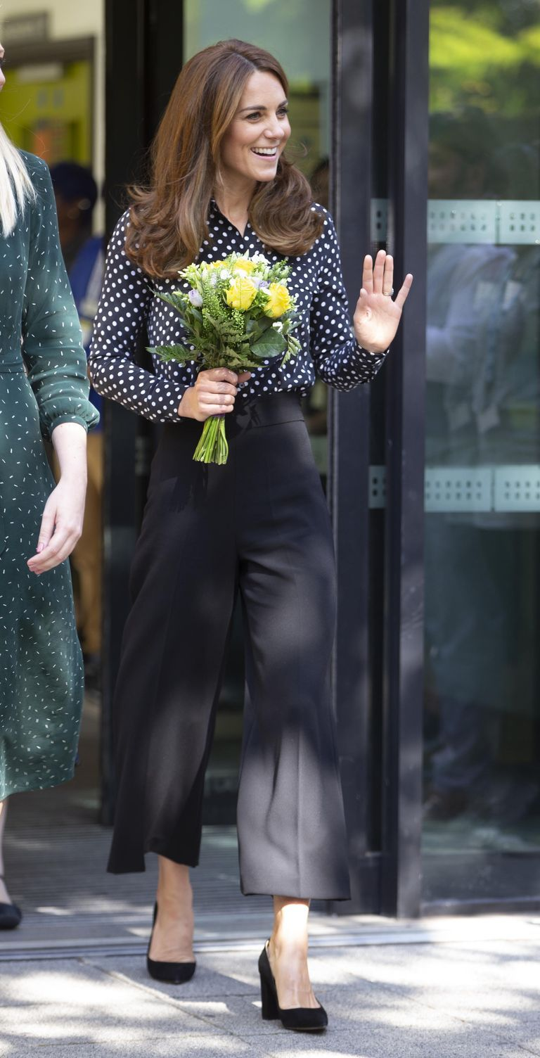 Kate Middleton Steps Out in a Polka Dot Blouse for a Surprise Event This Morning