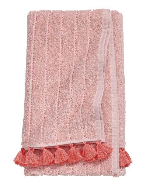 Toalla suave en rosa