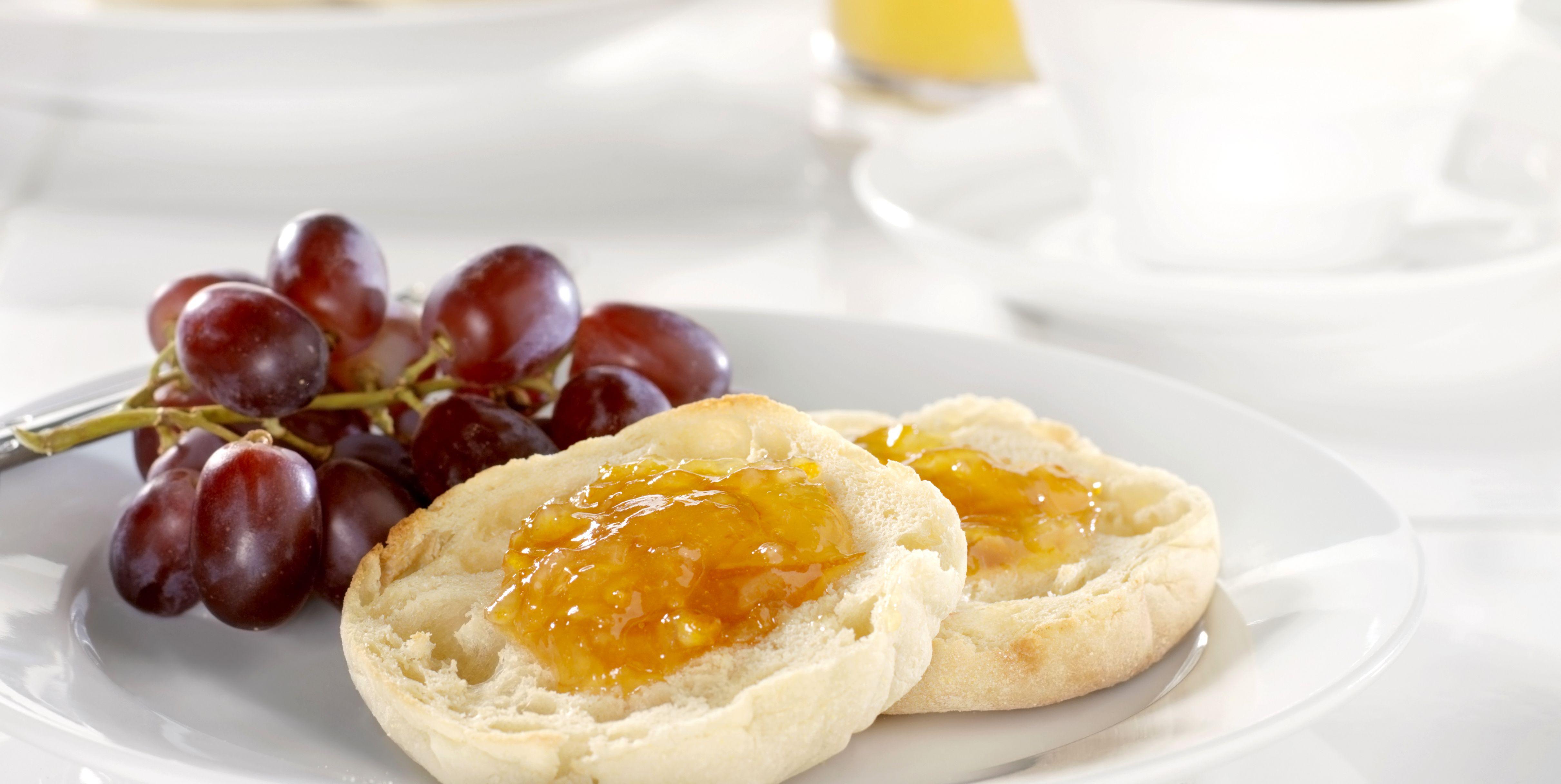 Toasted English Muffin with Orange Marmalade