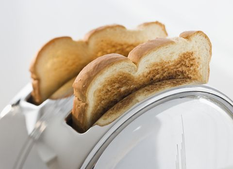 Toaster with popped up toasts, close-up