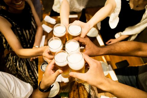 toasting people
