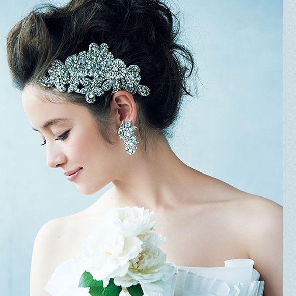 おすすめヘッドドレスで魅せる花嫁のトレンドヘアスタイル集