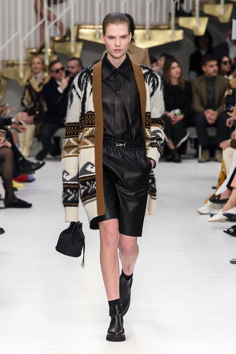 Fashion model, Fashion show, Fashion, Runway, Clothing, Shoulder, Street fashion, Footwear, Joint, Outerwear,