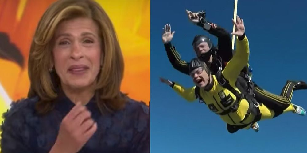 'Today' Star Hoda Kotb Got Emotional Seeing Jenna Bush Hager's Thrilling Skydiving Jump