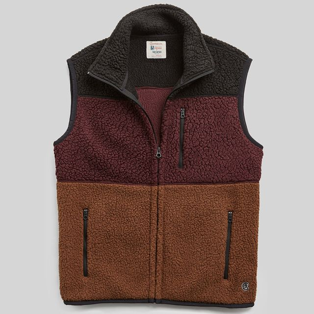 Clothing, Outerwear, Vest, Brown, Jacket, Fashion, Sleeve, Zipper, Pocket, Collar,