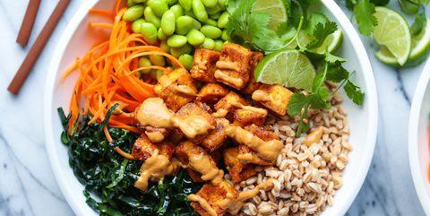 Food, Cuisine, Dish, Ingredient, Vegan nutrition, Pad thai, Vegetarian food, Produce, Salad, Thai food,