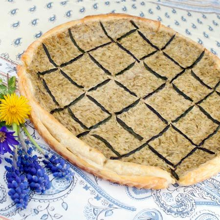 Asparagus Quiche With Brown Rice Crust