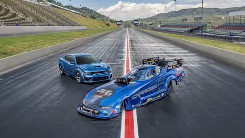 Dodge Rolls Out the 11,000-HP Charger SRT Hellcat Widebody Funny Car
