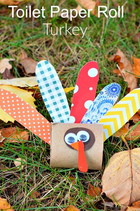 toilet paper roll turkey thanksgiving crafts for kids