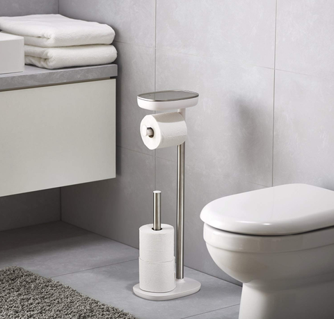 The Joseph Joseph EasyStore Toilet Paper Holder Is Essentially An Cool Bathroom Paper