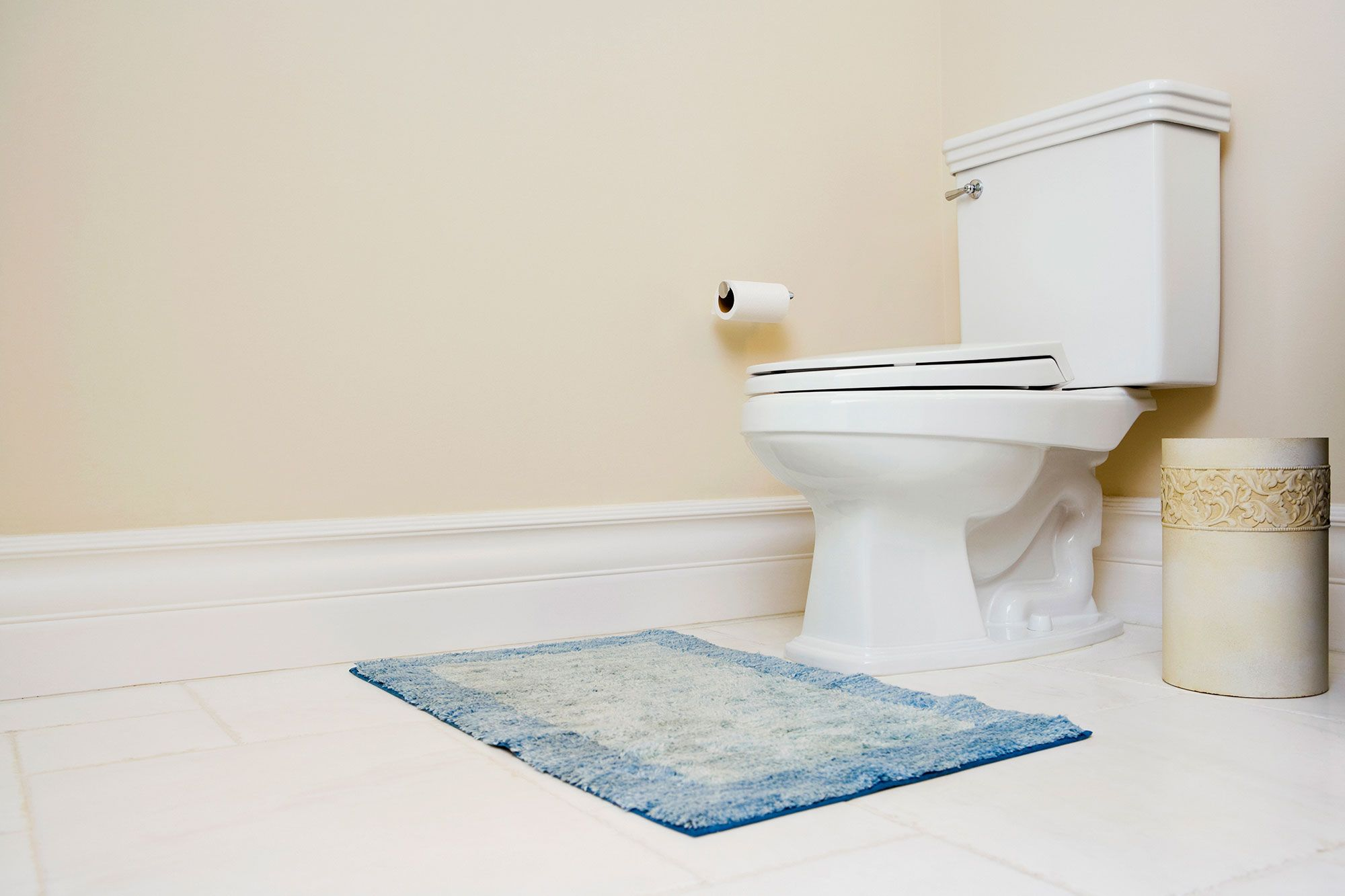 Toilet Rug. Getty ImagesGlow Decor