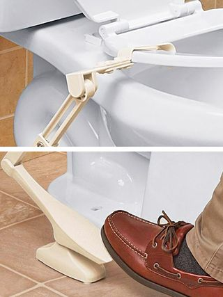 why you need this lifting pedal for your toilet seat. Black Bedroom Furniture Sets. Home Design Ideas