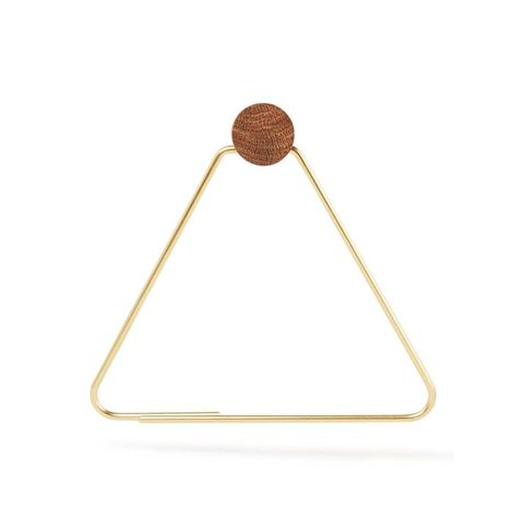 ferm living brass toiletrolhouder driehoek