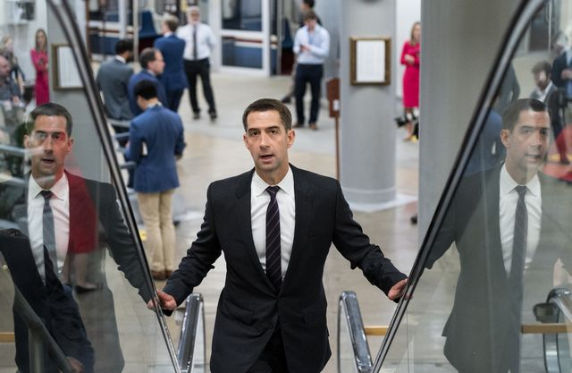 united states   may 26 sen tom cotton, r ark, arrives for a vote in the us capitol on wednesday, may 26, 2021 photo by bill clarkcq roll call, inc via getty images