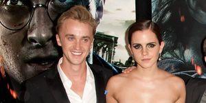Tom Felton en Emma Watson