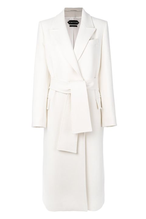 Clothing, White, Outerwear, Coat, Blazer, Jacket, Suit, Formal wear, Beige, Robe,