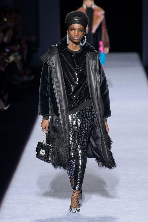 Fashion model, Fashion, Runway, Fashion show, Clothing, Fashion design, Outerwear, Human, Footwear, Event,