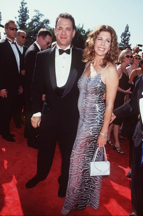tom hanks and rita wilson at the emmy awards