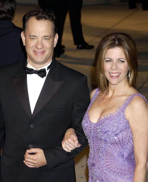 Tom Hanks and Rita Wilson at the Oscars