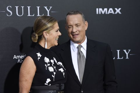 tom hanks and rita wilson at the sully premiere