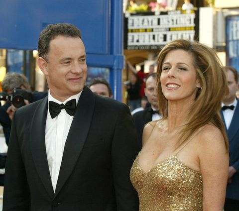 tom hanks and rita wilson at the cannes film festival, 2004