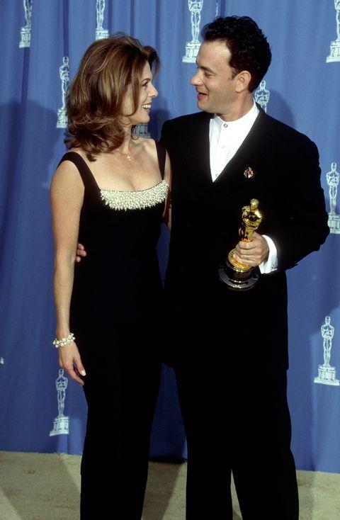 Rita Wilson and Tom Hanks at the Oscars