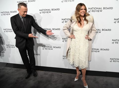topshot   actors tom hanks and rita wilson attend the 2018 national board of review awards gala at cipriani 42nd street on january 9, 2018 in new york city photo by angela weiss  afp        photo credit should read angela weissafp via getty images