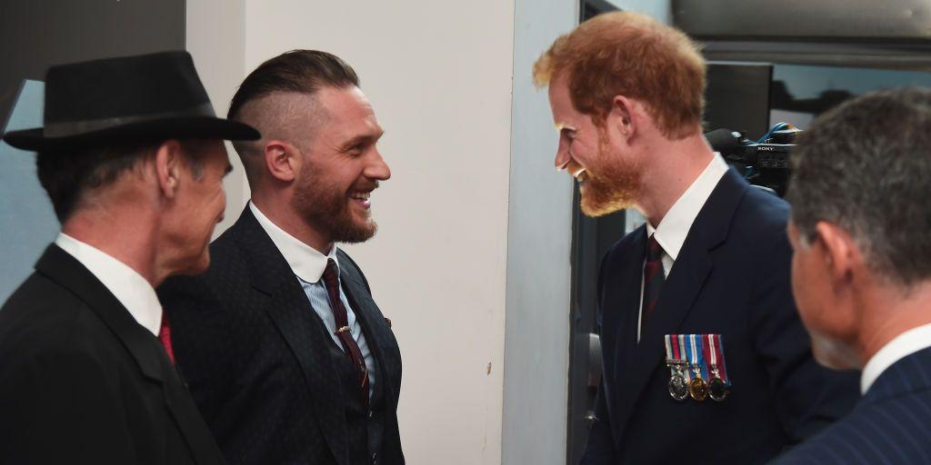 Prins Harry,TomHardy, vriendschap Prins HarryTom Hardy