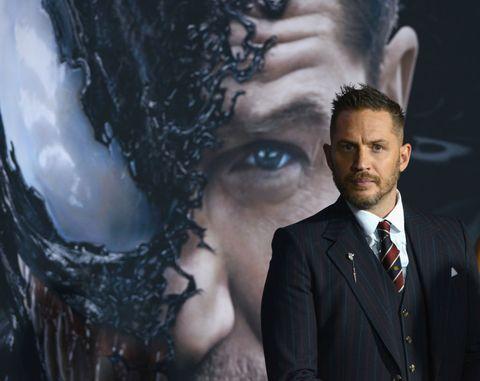 Tom Hardy, en la presentación de 'Venom'.
