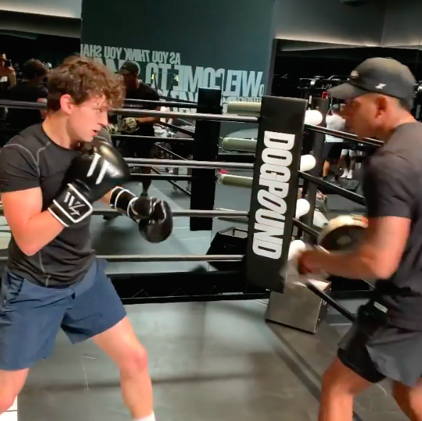 Watch Tom Holland Show Off His Boxing Skills in a <em>Spiderman: No Way Home</em> Training Video thumbnail