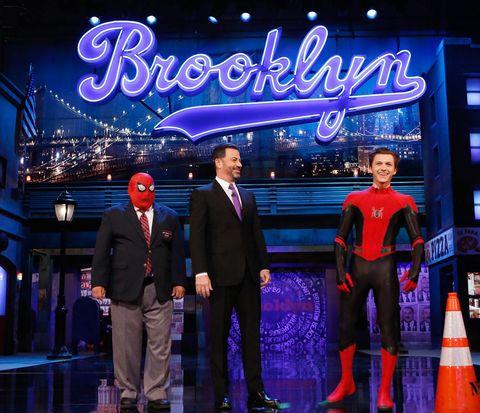 Tom Holland en Jimmy Kimmel
