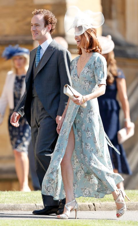 windsor, united kingdom   may 19 embargoed for publication in uk newspapers until 24 hours after create date and time tom inskip and lara inskip attend the wedding of prince harry to ms meghan markle at st george's chapel, windsor castle on may 19, 2018 in windsor, england prince henry charles albert david of wales marries ms meghan markle in a service at st george's chapel inside the grounds of windsor castle among the guests were 2200 members of the public, the royal family and ms markle's mother doria ragland photo by max mumbyindigogetty images