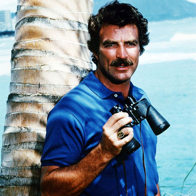 american actor tom selleck as he appears in the tv series magnum pi, circa 1985 photo by silver screen collectiongetty images