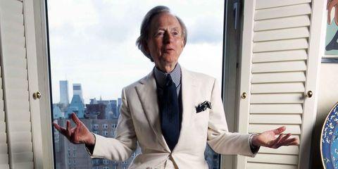 Suit, White-collar worker, Formal wear, Businessperson, Tuxedo, Gesture, Tie, Blazer, Outerwear, Finger,