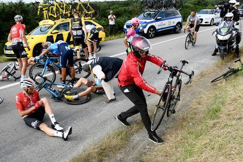 What Happens After a Bike Crash? | Tour de France Crashes
