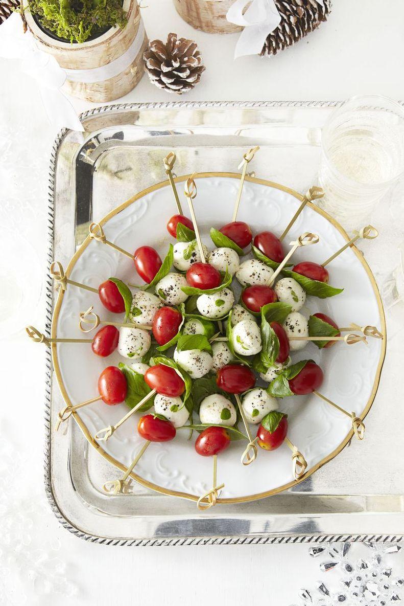 Tomato and Mozzarella Bites - Healthy Super Bowl Recipes