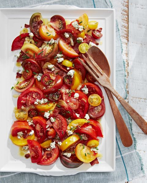tomato salad with bacon vinaigrette