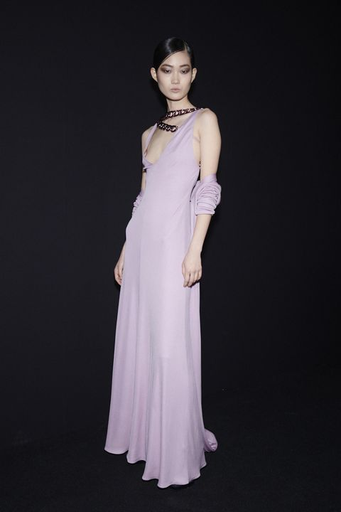 Dress, Clothing, Gown, Shoulder, Fashion model, White, Formal wear, Neck, Fashion, Bridal party dress,