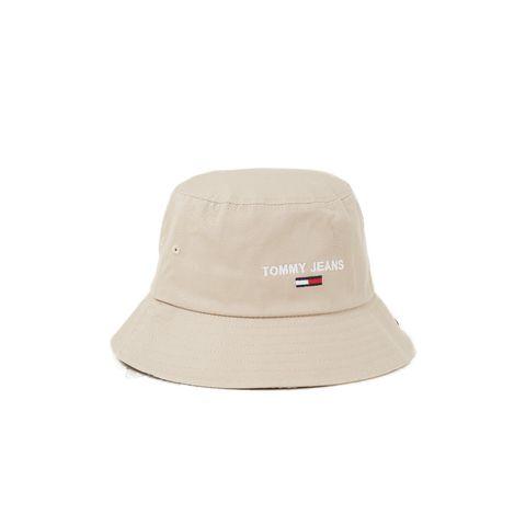 tommy hilfiger tommy jeans bucket hoed logoborduring beige