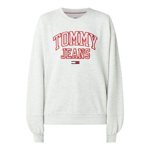 tommy hilfiger tommy jeans oversized hoodie met logoborduring