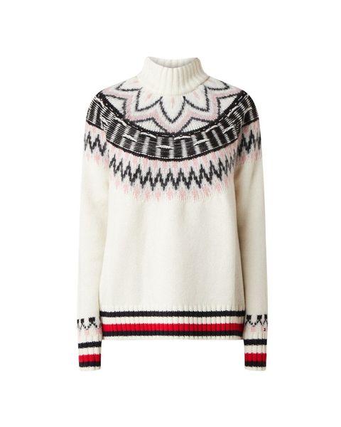 Witte Tommy Hilfiger trui met patroontjes