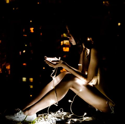 girl using smartphone