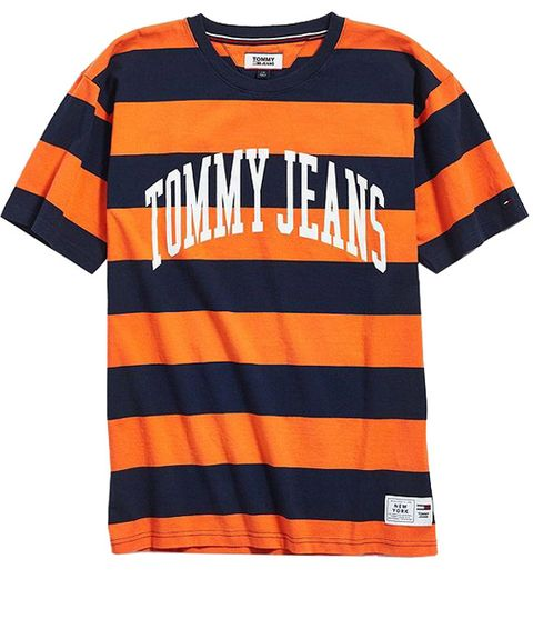 T-shirt, Clothing, Orange, Sleeve, Active shirt, Sportswear, Product, Jersey, Top, Sports uniform,
