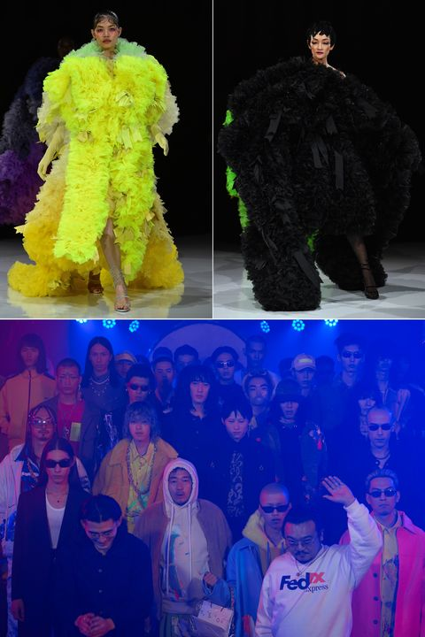 Blue, Yellow, Fashion, Fun, Outerwear, Electric blue, Event, Night, World, Performance,